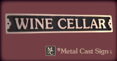 Wine Cellar bronze sign