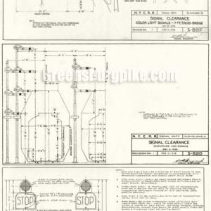 Railroad signal/semaphone draftsman's drawings
