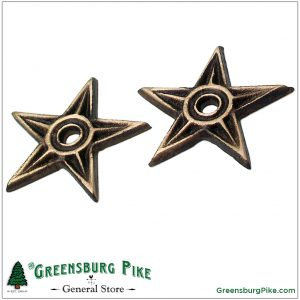 Cast bronze mini stars / house washers, wall accents