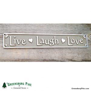 live laugh love sign - cast aluminum